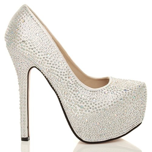 womens wedding evening prom high heel platform