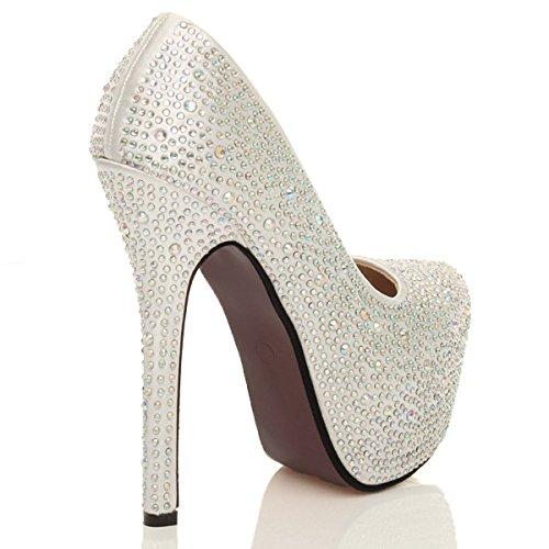 womens wedding evening prom high heel platform