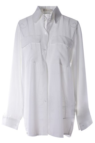 Womens White Long Sleeve Shirt