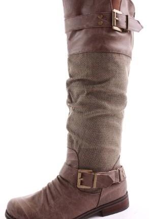 5c38010892a9 Womens Black Ladies Winter Biker Riding Style Boots Flat Low Heel ...