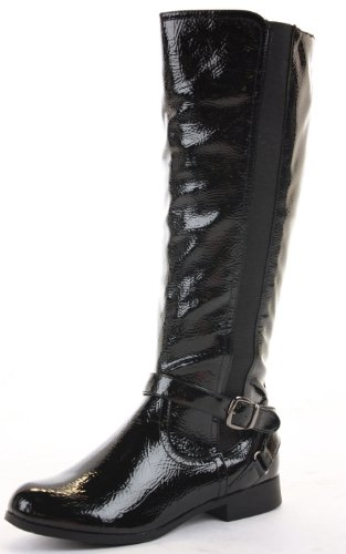 Womens Wide Flat Shoes Black