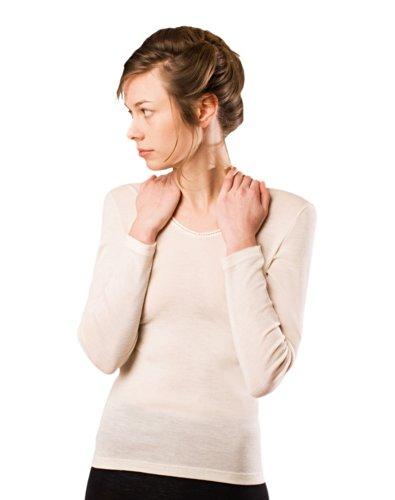 daac9eac2587 Women's Luxury Merino Wool & Mulberry Silk (70/30) Thermal Underwear ...