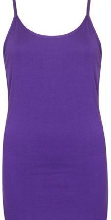 Be Jealous Womens Long Stretch Plain Vest Strappy Tshirt Top