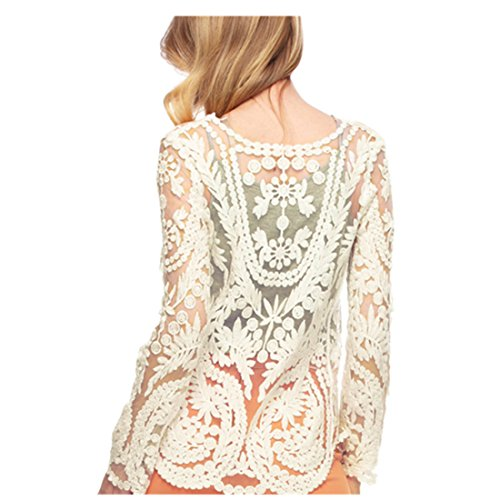 Womens Cream Lace Blouse 90