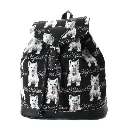 Women S Small Backpack Rucksack Fashion Bags Canvas Westie