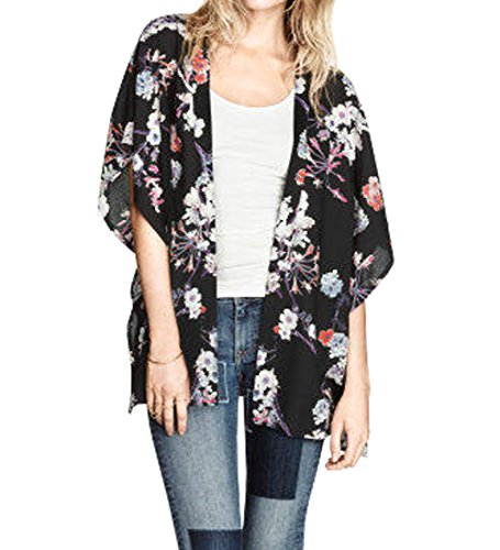 Women S Vintage Retro Floral Pattern Print Batwing Sleeve