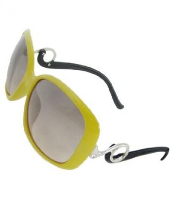 Yellow Plastic Frame Sunglasses : Yellow Plastic Full Frame Oversized Lens Sunglasses ...